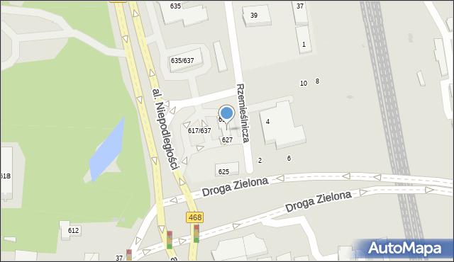 Sopot, Aleja Niepodległości, 629, mapa Sopotu