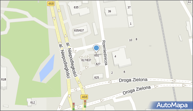Sopot, Aleja Niepodległości, 631, mapa Sopotu