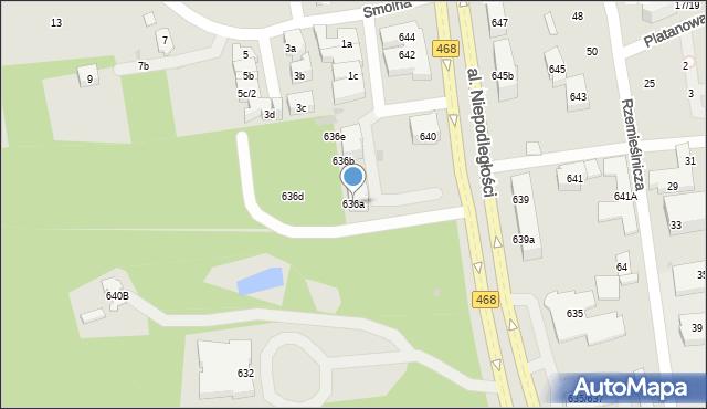 Sopot, Aleja Niepodległości, 636a, mapa Sopotu
