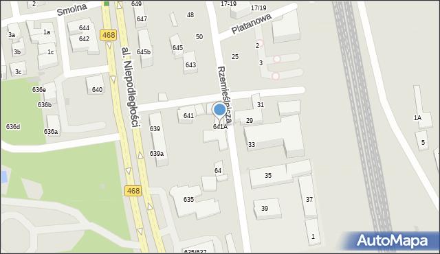 Sopot, Aleja Niepodległości, 641A, mapa Sopotu