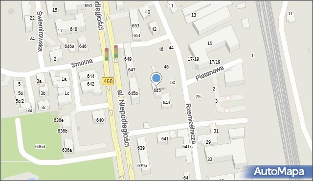 Sopot, Aleja Niepodległości, 645, mapa Sopotu