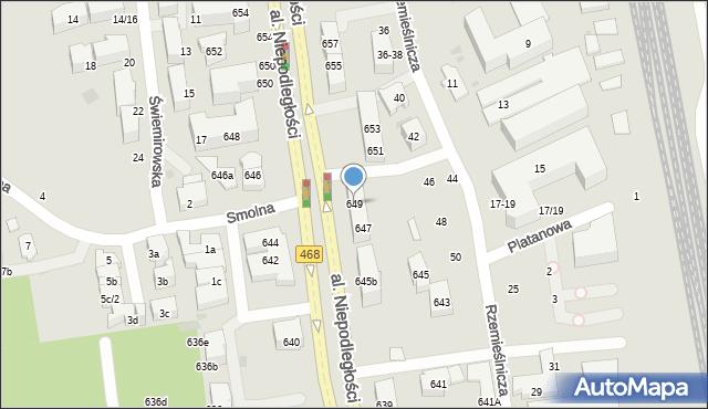 Sopot, Aleja Niepodległości, 649, mapa Sopotu
