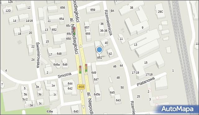 Sopot, Aleja Niepodległości, 651, mapa Sopotu