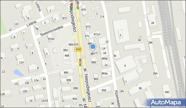 Sopot, Aleja Niepodległości, 667, mapa Sopotu