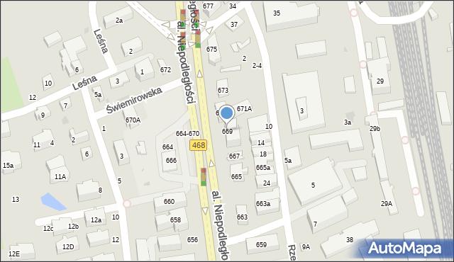 Sopot, Aleja Niepodległości, 669, mapa Sopotu