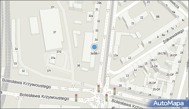 Szczecin, Aleja Bohaterów Warszawy, 35, mapa Szczecina