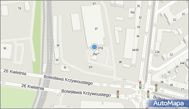 Szczecin, Aleja Bohaterów Warszawy, 37e, mapa Szczecina