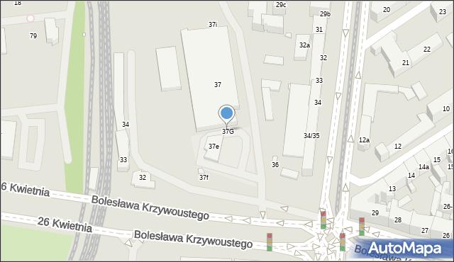 Szczecin, Aleja Bohaterów Warszawy, 37G, mapa Szczecina