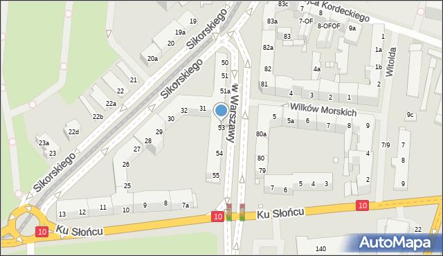 Szczecin, Aleja Bohaterów Warszawy, 53, mapa Szczecina