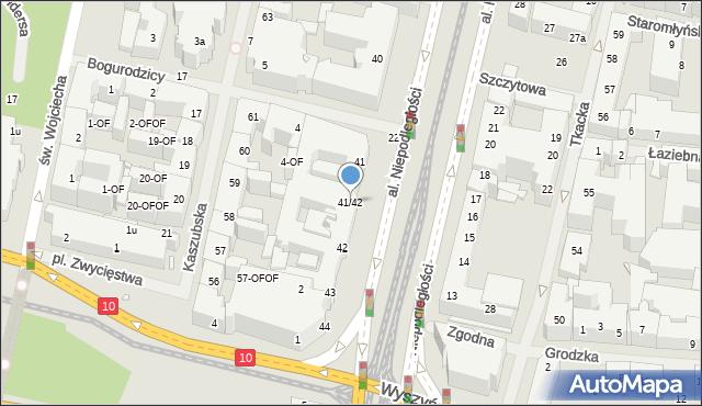 Szczecin, Aleja Niepodległości, 41/42, mapa Szczecina