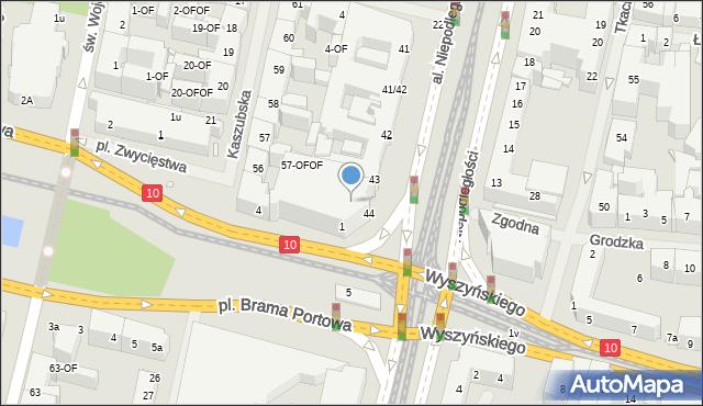 Szczecin, Aleja Niepodległości, 44a, mapa Szczecina