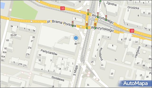 Szczecin, Aleja Niepodległości, 60, mapa Szczecina