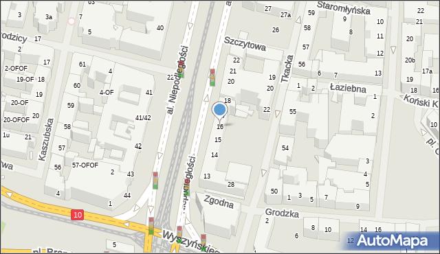 Szczecin, Aleja Niepodległości, 16, mapa Szczecina