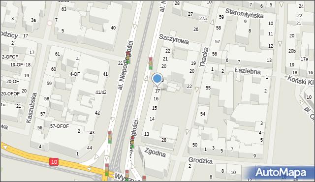 Szczecin, Aleja Niepodległości, 17, mapa Szczecina