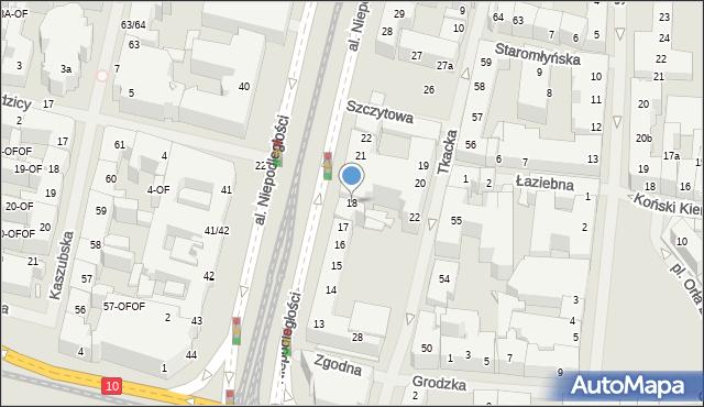 Szczecin, Aleja Niepodległości, 18, mapa Szczecina