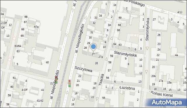 Szczecin, Aleja Niepodległości, 27, mapa Szczecina