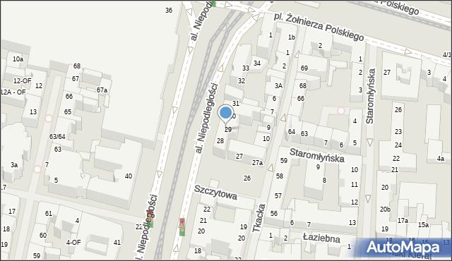 Szczecin, Aleja Niepodległości, 29, mapa Szczecina