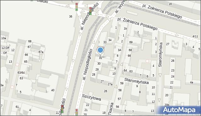 Szczecin, Aleja Niepodległości, 31, mapa Szczecina