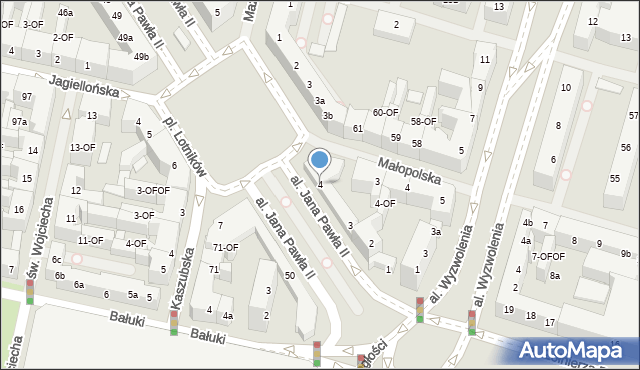 Szczecin, Aleja Papieża Jana Pawła II, 4, mapa Szczecina