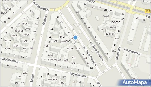 Szczecin, Aleja Papieża Jana Pawła II, 47, mapa Szczecina