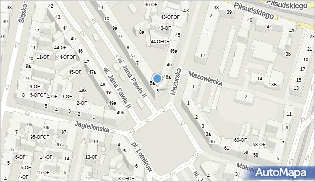 Szczecin, Aleja Papieża Jana Pawła II, 5, mapa Szczecina