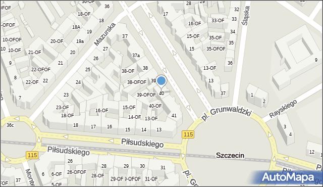Szczecin, Aleja Papieża Jana Pawła II, 40, mapa Szczecina