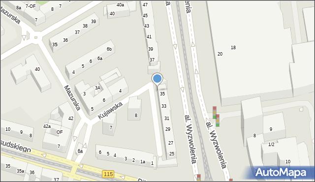 Szczecin, Aleja Wyzwolenia, 35A, mapa Szczecina