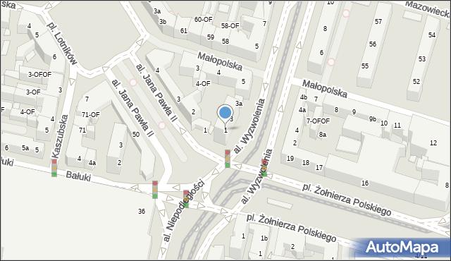 Szczecin, Aleja Wyzwolenia, 1, mapa Szczecina