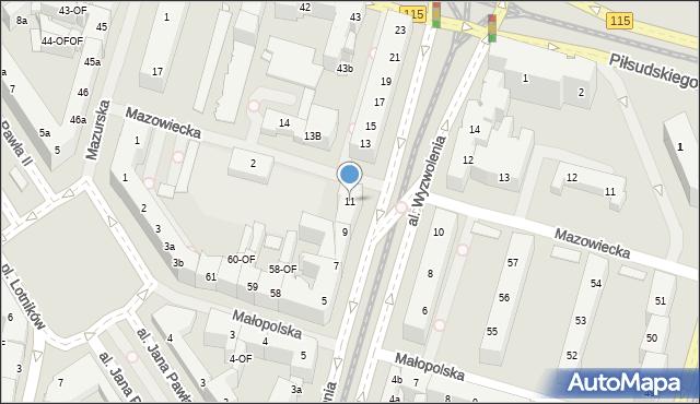 Szczecin, Aleja Wyzwolenia, 11, mapa Szczecina