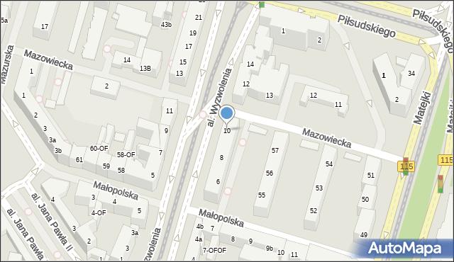 Szczecin, Aleja Wyzwolenia, 10, mapa Szczecina