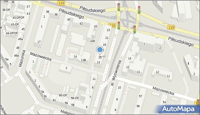 Szczecin, Aleja Wyzwolenia, 15, mapa Szczecina