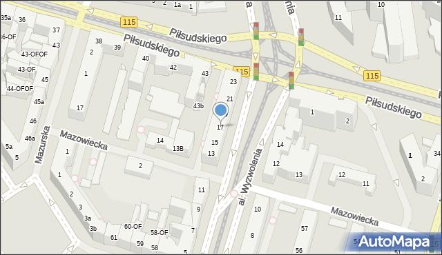 Szczecin, Aleja Wyzwolenia, 17, mapa Szczecina