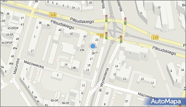 Szczecin, Aleja Wyzwolenia, 19, mapa Szczecina