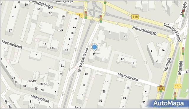 Szczecin, Aleja Wyzwolenia, 12, mapa Szczecina