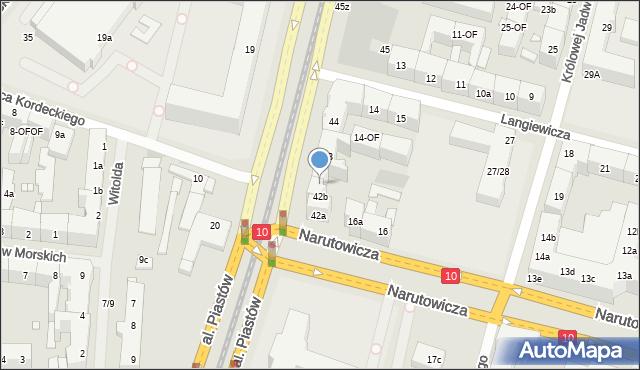 Szczecin, Aleja Piastów, 42c, mapa Szczecina