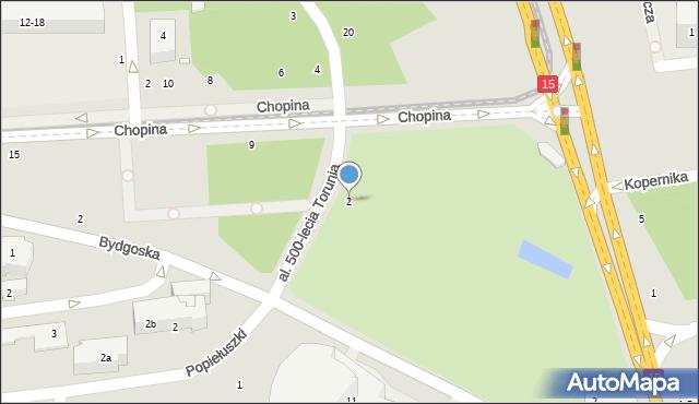 Toruń, Aleja 500-lecia Torunia, 4, mapa Torunia