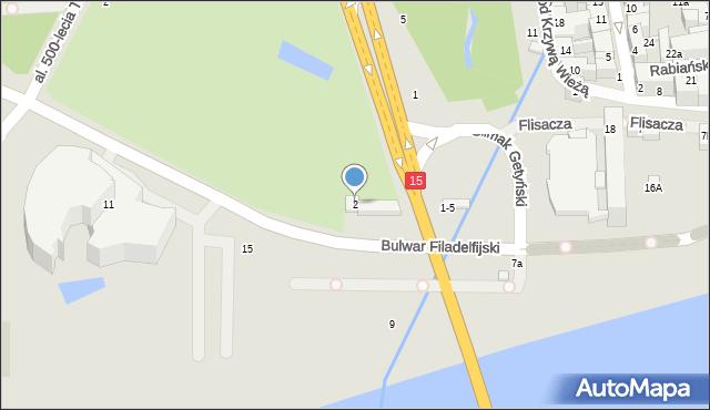 Toruń, Aleja św. Jana Pawła II, 2, mapa Torunia