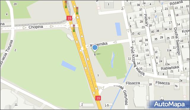 Toruń, Aleja św. Jana Pawła II, 5, mapa Torunia