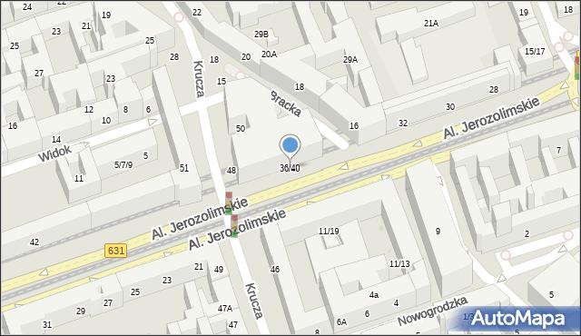 Warszawa, Aleje Jerozolimskie, 36/40, mapa Warszawy