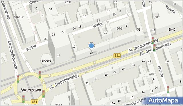 Warszawa, Aleje Jerozolimskie, 42, mapa Warszawy