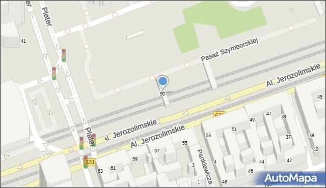 Warszawa, Aleje Jerozolimskie, 50, mapa Warszawy
