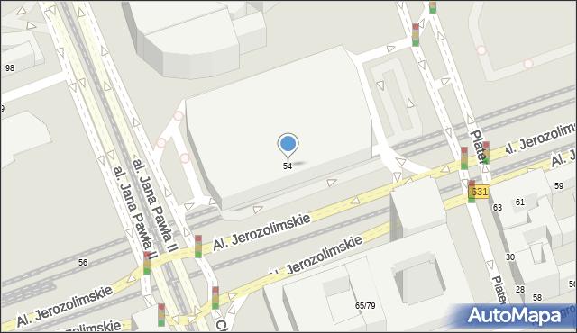 Warszawa, Aleje Jerozolimskie, 54, mapa Warszawy
