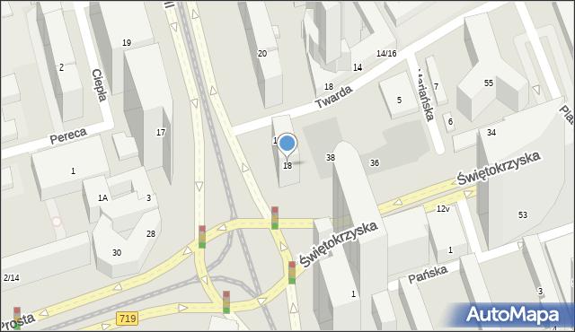 Warszawa, Aleja Jana Pawła II, 18, mapa Warszawy