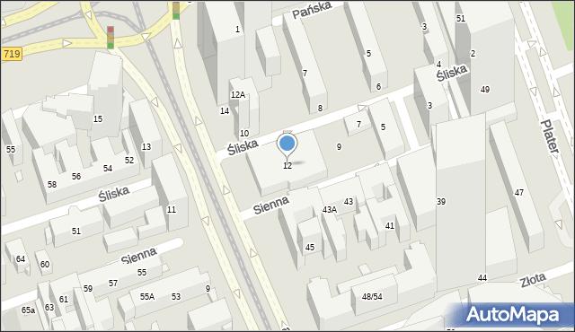 Warszawa, Aleja Jana Pawła II, 12, mapa Warszawy