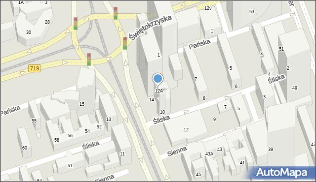 Warszawa, Aleja Jana Pawła II, 12A, mapa Warszawy
