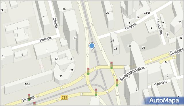Warszawa, Aleja Jana Pawła II, 18b, mapa Warszawy