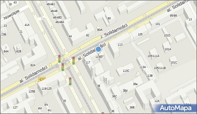 Warszawa, Aleja Solidarności, 113D, mapa Warszawy