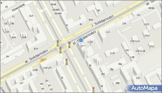 Warszawa, Aleja Solidarności, 117, mapa Warszawy