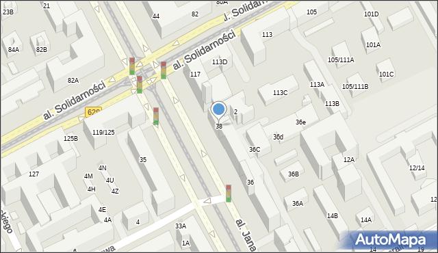Warszawa, Aleja Jana Pawła II, 38, mapa Warszawy