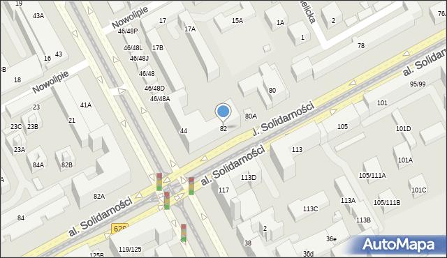 Warszawa, Aleja Solidarności, 82, mapa Warszawy
